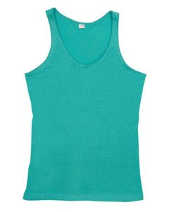 Womens Jersey Singlet - Fruit Green, 8
