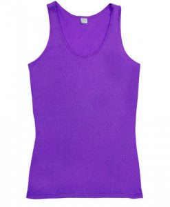 Womens Jersey Singlet - Purple, 12