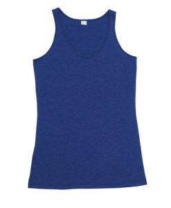 Womens Jersey Singlet - Royal, 8