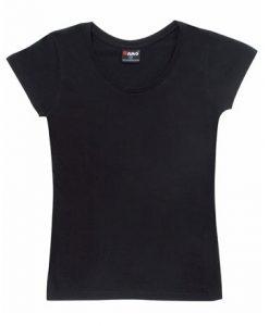Womens Jersey Tee - Black, 12