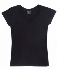 Womens Jersey Tee - Black, 8