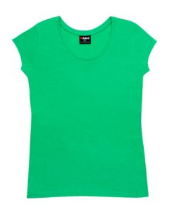 Womens Jersey Tee - Emerald Green, 12