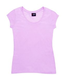 Womens Jersey Tee - Pale Pink, 14