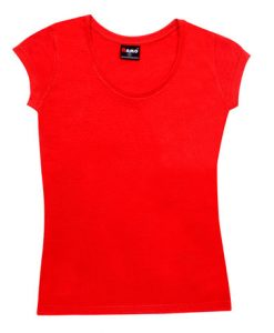 Womens Jersey Tee - Red, 12