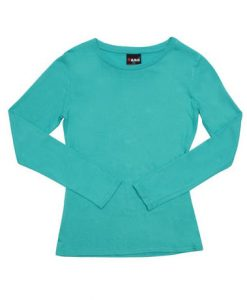 Womens Long Sleeve Tee - Kelly Green, 14
