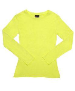 Womens Long Sleeve Tee - Yellow, 12