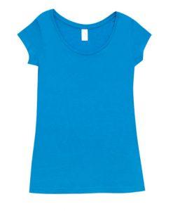 Womens Marl Blend T-Shirt - Azure, 12