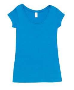 Womens Marl Blend T-Shirt - Azure, 14