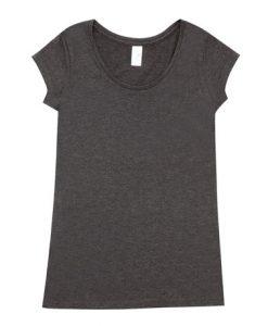 Womens Marl Blend T-Shirt - Charcoal, 10