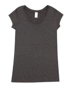 Womens Marl Blend T-Shirt - Charcoal, 14