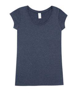 Womens Marl Blend T-Shirt - Navy, 14