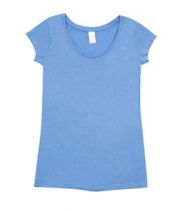 Womens Marl Blend T-Shirt - Sky Blue, 12