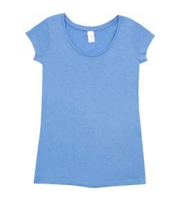 Womens Marl Blend T-Shirt - Sky Blue, 14