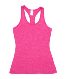 Womens Marl T-Back Singlet - Hot pink, 14