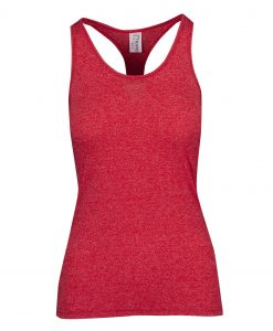 Womens Marl T-Back Singlet - Red