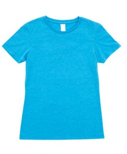 Womens Marl T-Shirt - Blue Marl, 14