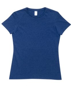 Womens Marl T-Shirt - Blue Marl, 8