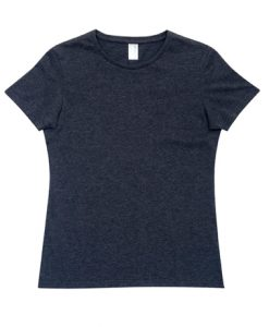 Womens Marl T-Shirt - Charcoal Marle, 10