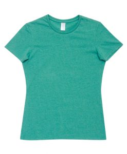 Womens Marl T-Shirt - Green Marl, 12