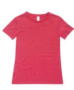 Womens Marl T-Shirt - Red Marl, 8