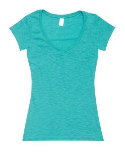 Womens Raw Vee Tee - Fruit Green, 14