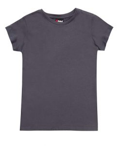 Womens Slim Fit Tee - Charcoal, 8