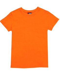 Womens Slim Fit Tee - Orange, 10
