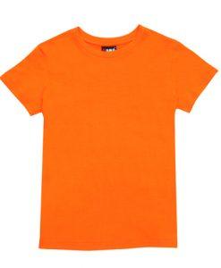 Womens Slim Fit Tee - Orange, 14