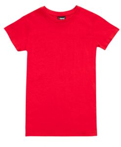 Womens Slim Fit Tee - Red, 10