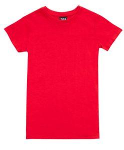 Womens Slim Fit Tee - Red, 14