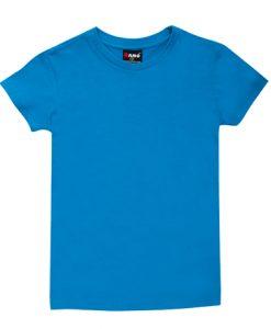 Womens Slim Fit Tee - Sky Blue, 14