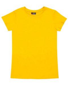 Womens Slim Fit Tee - Yellow, 12