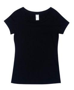 Womens Spandex Tee - Black, 10