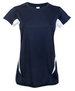 Womens Sports Tee - Navy/White, 20