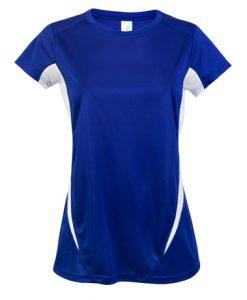 Womens Sports Tee - Royal/White, 14