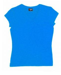 Womens Standard V-Neck - Azure, 12