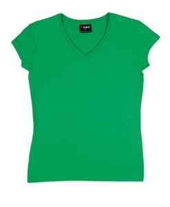 Womens Standard V-Neck - Emerald Green, 14