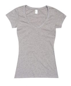 Womens Standard V-Neck - Grey Marle, 8