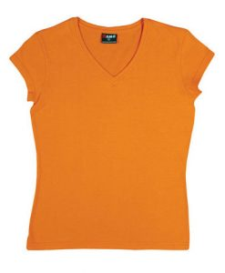 Womens Standard V-Neck - Orange, 14