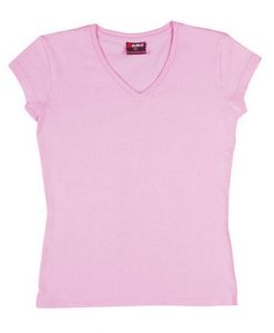 Womens Standard V-Neck - Pale Pink, 12