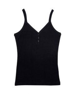 Womens Strap Singlet - Black, 12