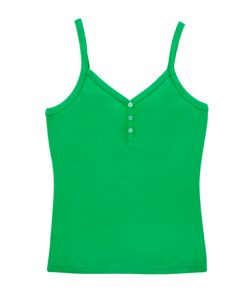 Womens Strap Singlet - Kelly Green, 14