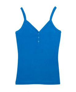 Womens Strap Singlet - Royal, 8