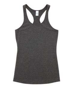 Womens T-back Singlet - Charcoal, 8