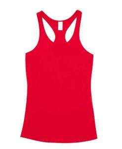 Womens T-back Singlet - Red, 10