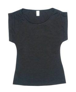 Womens Wide Tee - Black, 8