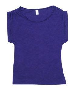 Womens Wide Tee - Purple, 12