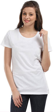smiling woman tee